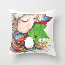 If Mother Earth Was a Child... Throw Pillow