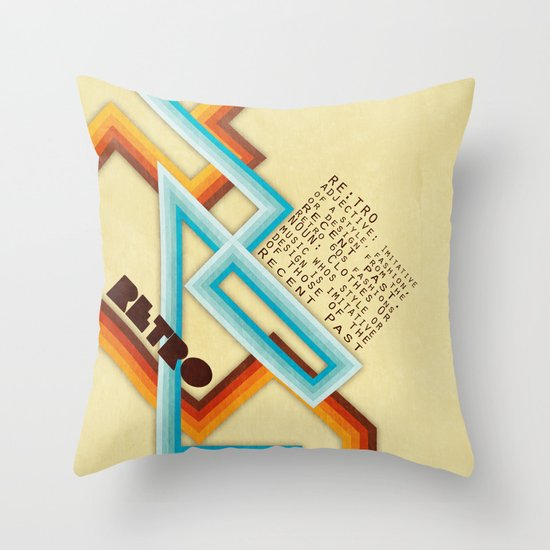 Retro Meaning Throw Pillow