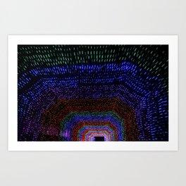 Tunnel of Lights Art Print