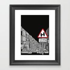 Low Flying Spacecraft Framed Art Print