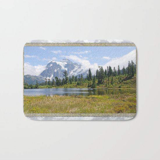 MOUNT SHUKSAN ONE AUGUST DAY Bath Mat