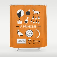 ouat Shower Curtains featuring OUAT - A Princess by Redel Bautista