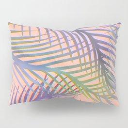 Palm Leaves Pattern - Purple, Peach, Blue Pillow Sham