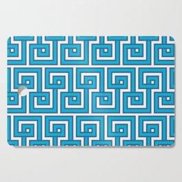 Greek Key - Turquoise Cutting Board