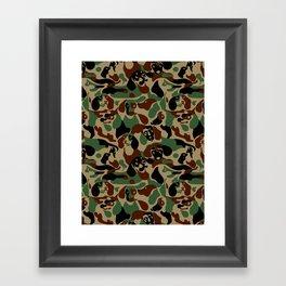 Dachshund  Camouflage Framed Art Print