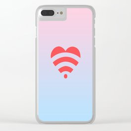 Wireless Love Clear iPhone Case