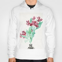 peru Hoodies featuring Peru Lilies by Kate Havekost Fine Art