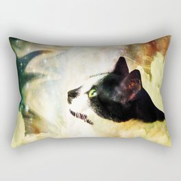 Gypsy Da Fleuky Cat and the Kitty Whisker Wishes Rectangular Pillow