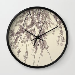 Raintree 2 Lavender pink flower blossoms Wall Clock