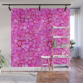 Pink Giraffe Print Wall Mural
