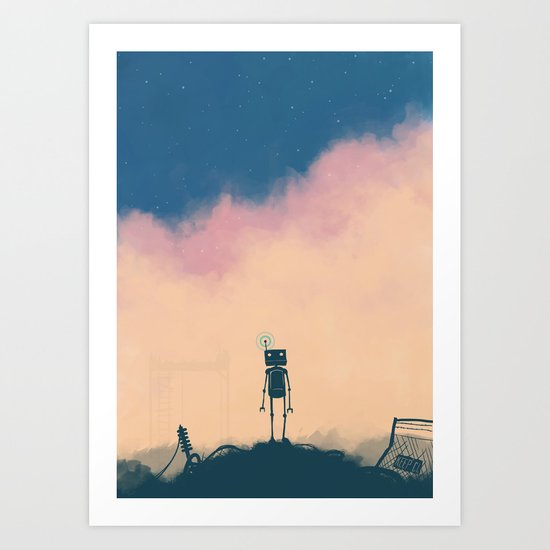 The Robot And The Dream Art Print