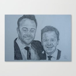 Ant and Dec Pencil Canvas Print