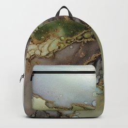 Enchanted Tree Roots Abstract Ink Painting Backpack