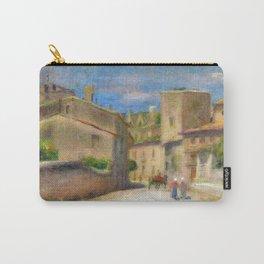 """Pierre-Auguste Renoir """"Rue à Villeneuve-les-Avignon"""" Carry-All Pouch"""
