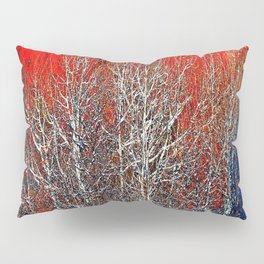 White Trees in Red Rocks Colorado USA  Pillow Sham