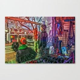 Moonflower Boutique Display Window Canvas Print