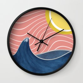 Sun, beach and sea Wall Clock