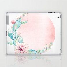 Desert Rose Gold Cactus Sun Laptop & iPad Skin