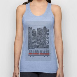 Boston City Illustration Unisex Tank Top