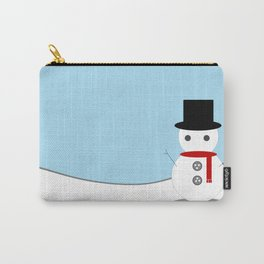 Snow Man With Blue Background Carry-All Pouch