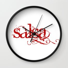 Red Salsa Wall Clock