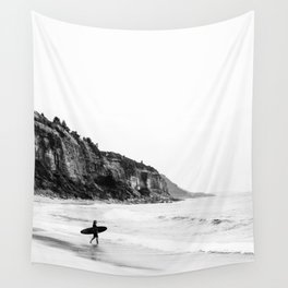 Surfer heads out II Wall Tapestry