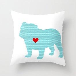 English Bull Dog Art Throw Pillow