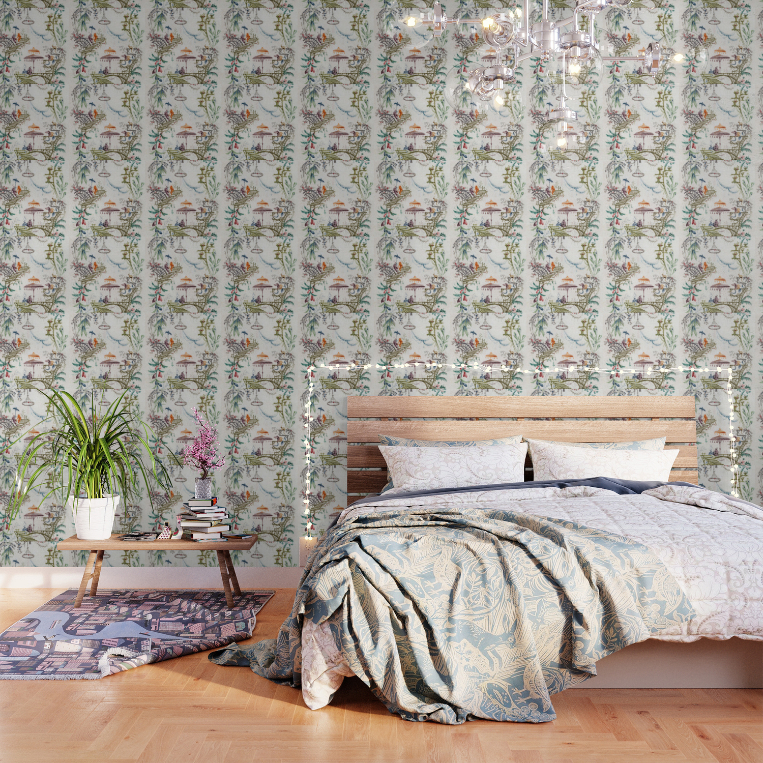 Enchanted Forest Chinoiserie Wallpaper By Thechinoiseriepavillion