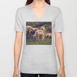 Lambs Unisex V-Neck