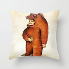 Oso pico tibio Throw Pillow
