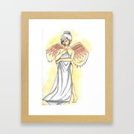 Young angel Framed Art Print