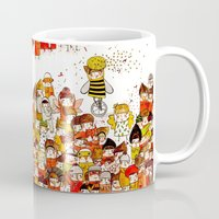 bees Mugs featuring Bees by Rafaela Rodrigues
