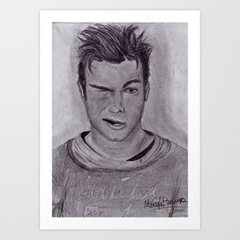Chris Colfer Drawing Art Print