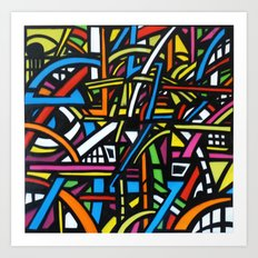 Abstract Graffiti Art Print