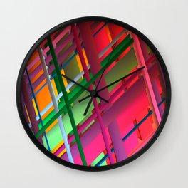 Striping Confusion Wall Clock
