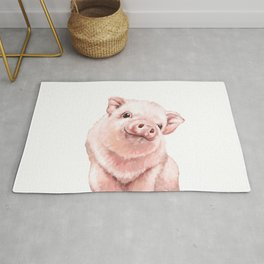 Pink Baby Pig Rug