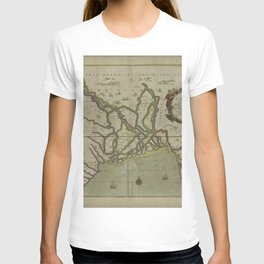 A mapp of the greate river GANGES as ir emptieth it selfe into the bay of BENGALA T-shirt