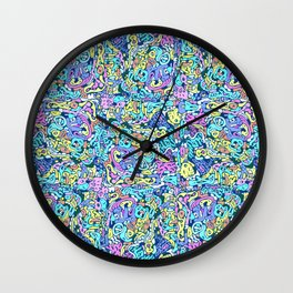 infinite scribbles Wall Clock