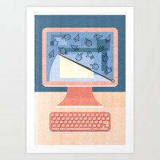 Dealing With Spam Art Print