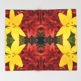 """A Gathering of Lilies"" Remix - 3 (1-1) [D4468~49] Throw Blanket"