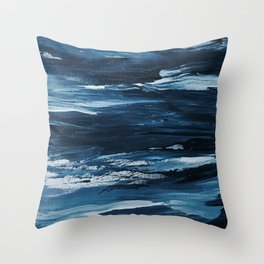 It Comes In Waves III Throw Pillow