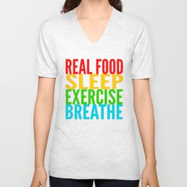 Eat, Sleep, Exercise, Breathe Unisex V-Neck