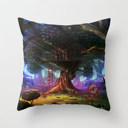 Tree house Throw Pillow