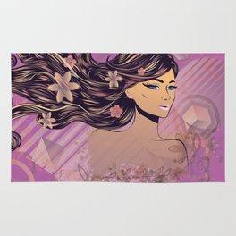 Purple music girl Rug