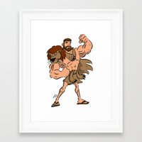 hercules Framed Art Prints featuring Hercules by Judas