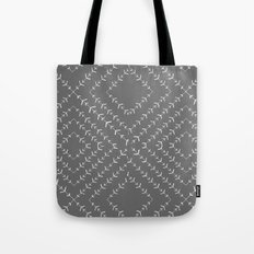 Gray and white varied vines Tote Bag