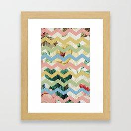 VINTAGE CHEVRON PATTERN Framed Art Print