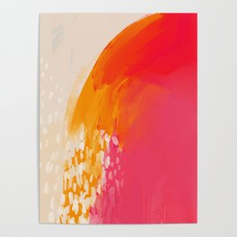 The Bright Abstract Waterfall Poster