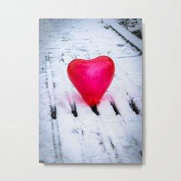 The Heart Can Cross Any Bridge Metal Print