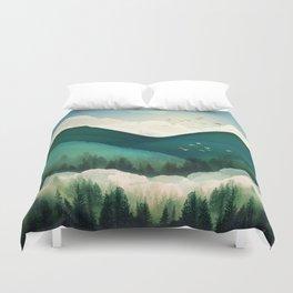 Emerald Hills Duvet Cover